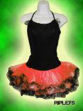 DEATH KITTY Neon RED Black TUTU Dress BALLET Show šaty 1a45b50384