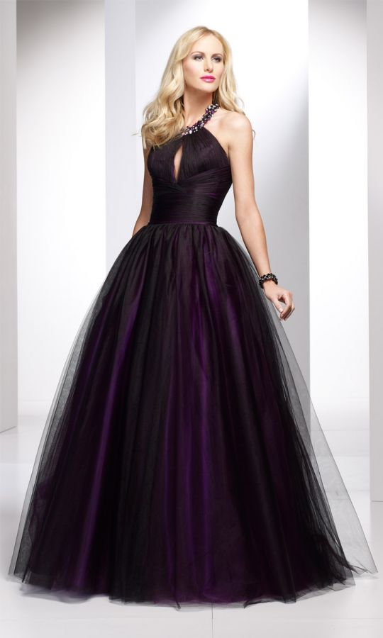 Black And Purple Gothic Wedding Dresses Elvire gothic plesov&#...
