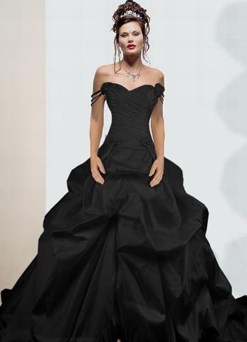 b14a2ad3085f maturitní plesové společenské šaty gothic černé - vampire
