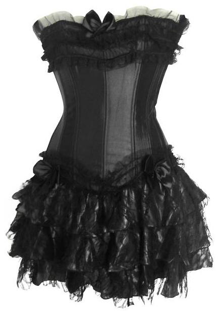 Výsledek obrázku pro gothic šaty krátké